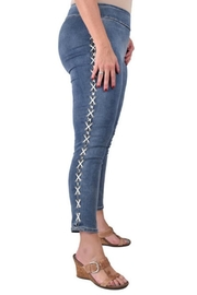 True Blue  Lace-Up Ankle Pant - Product Mini Image