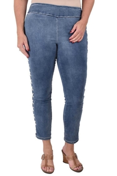 True Blue  Lace-Up Ankle Pant - Product List Image