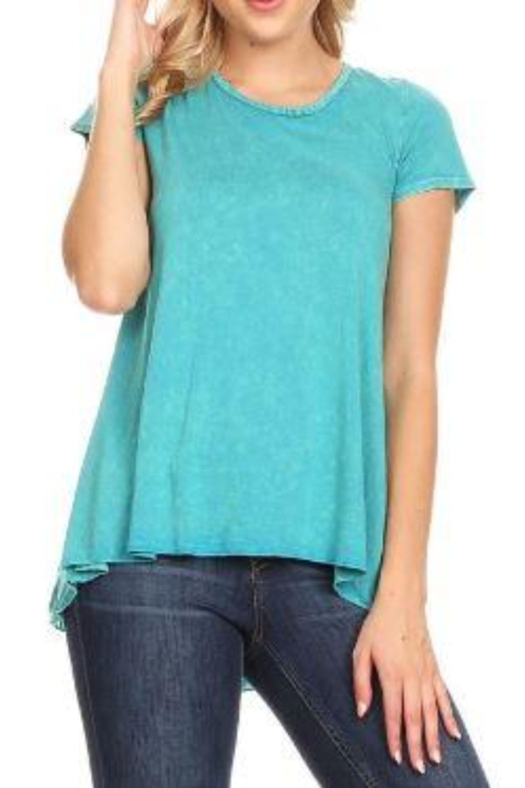T Party Lace Up Back Short Sleeve Top - Main Image