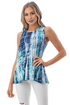 Ariella USA Lace Up Back Tie Dye Tank - Product List Image