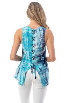 Ariella USA Lace Up Back Tie Dye Tank - Alternate List Image