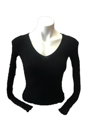 ambiance apparel Lace-Up Back Top - Front full body