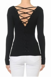 ambiance apparel Lace-Up Back Top - Product Mini Image