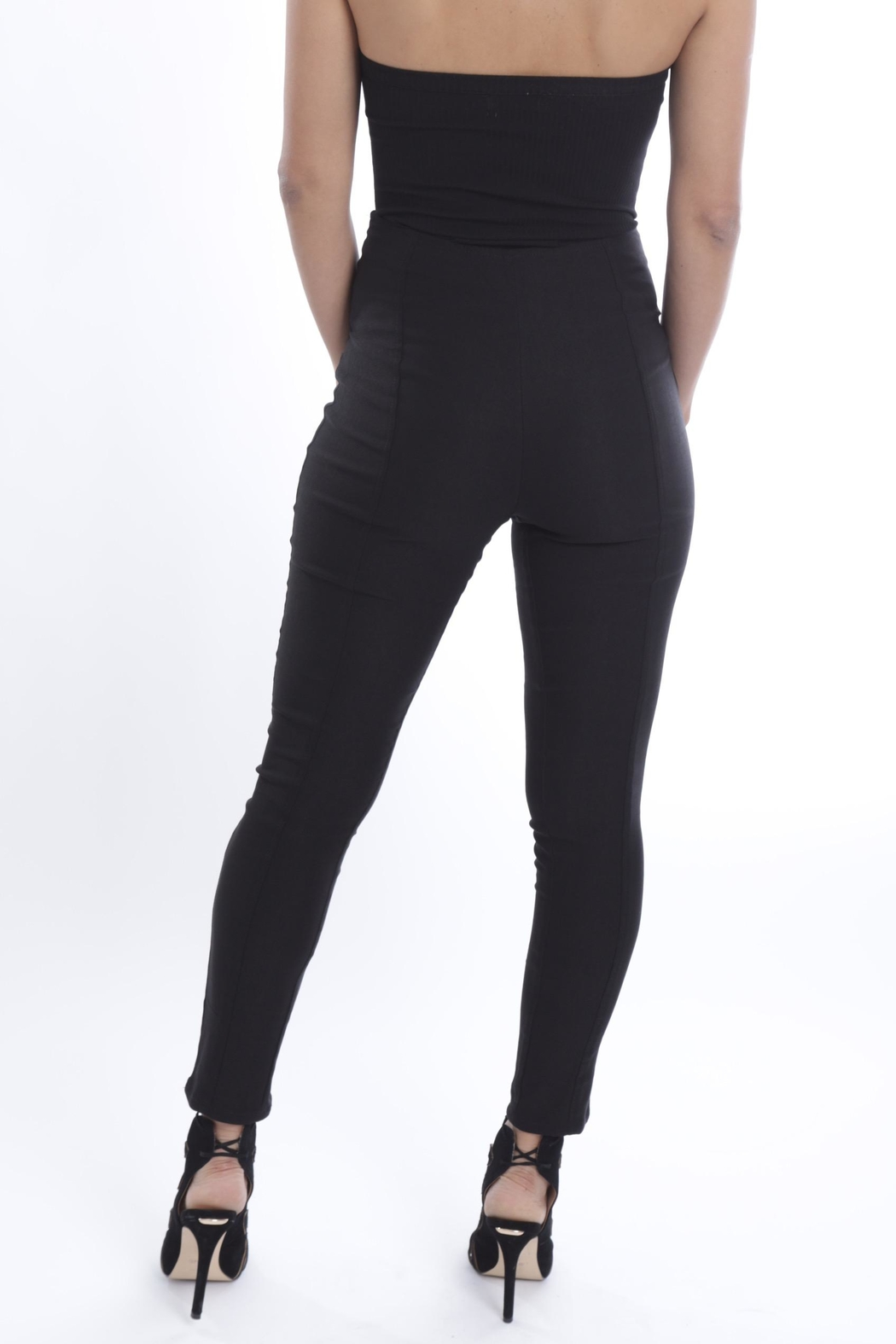 Cattiva Girl Lace-Up Black Pants - Side Cropped Image