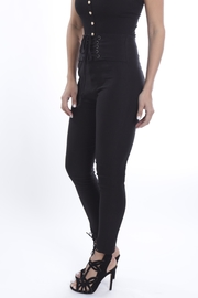 Cattiva Girl Lace-Up Black Pants - Back cropped