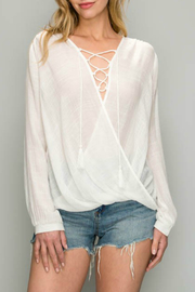 AAKAA Lace Up Blouse - Product Mini Image
