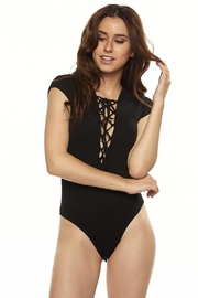 Ambiance Lace Up Bodysuit - Front cropped