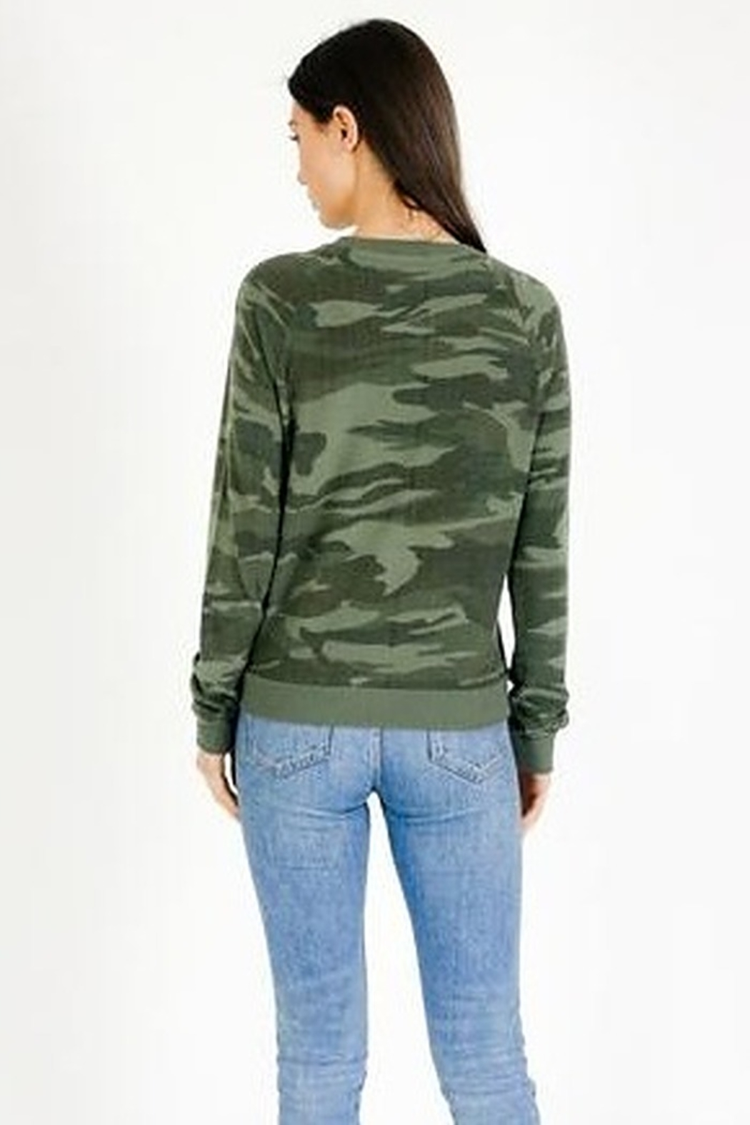 Six Fifty Lace Up Camo Top - Front Full Image