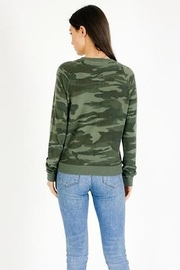 Six Fifty Lace Up Camo Top - Front full body
