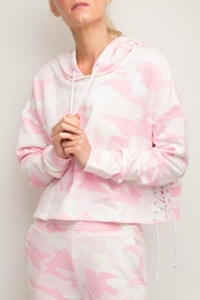Generation Love  Lace-Up Camouflage Hoodie - Product Mini Image