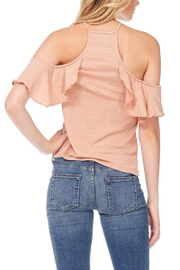 Anama Lace-Up Cold-Shoulder Blouse - Side cropped