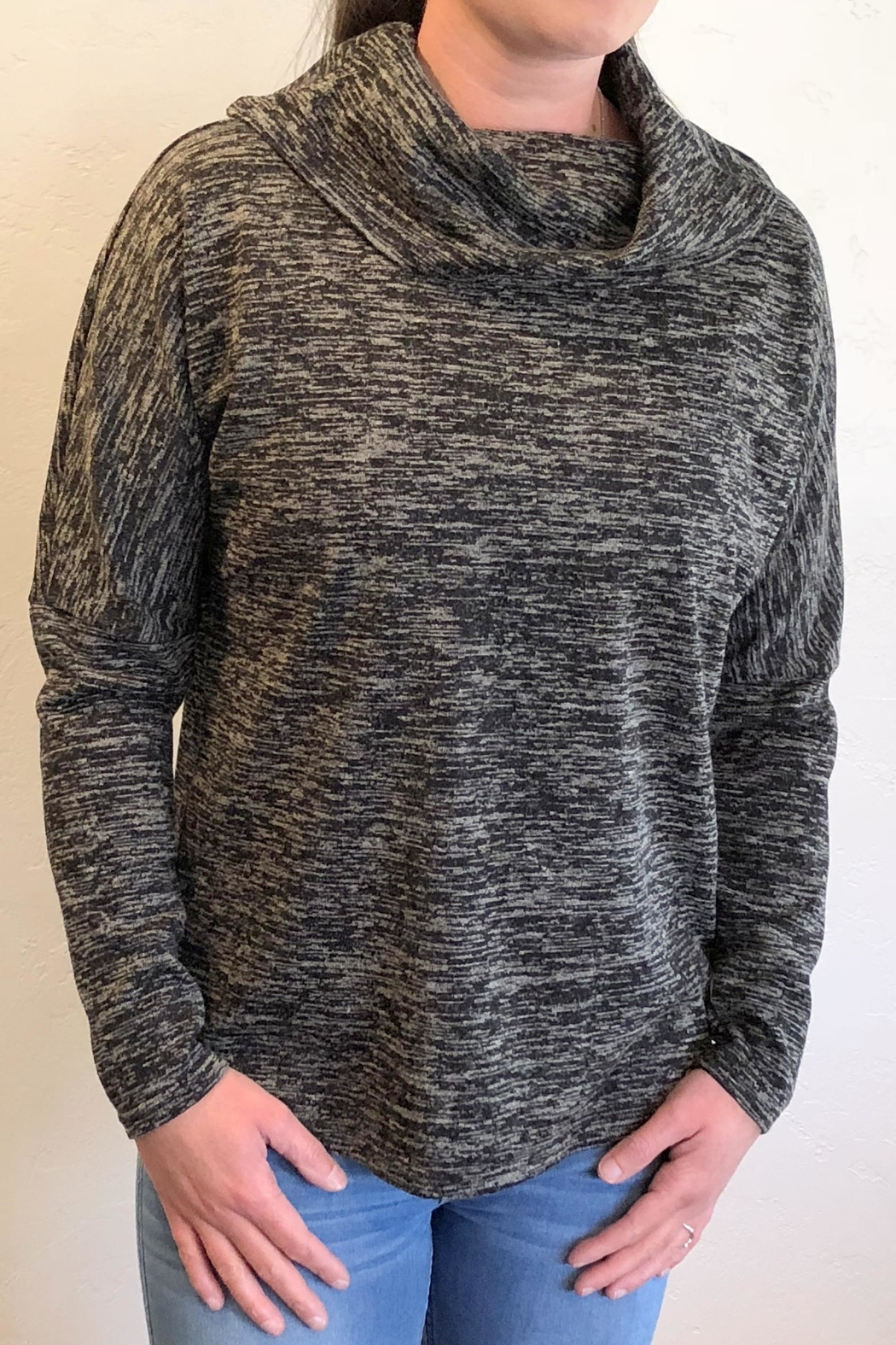 Charlie B. Lace-Up Cowl Sweater - Main Image