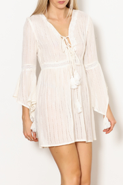 America & Beyond Lace Up Det Bell Slv Dress - Product Mini Image
