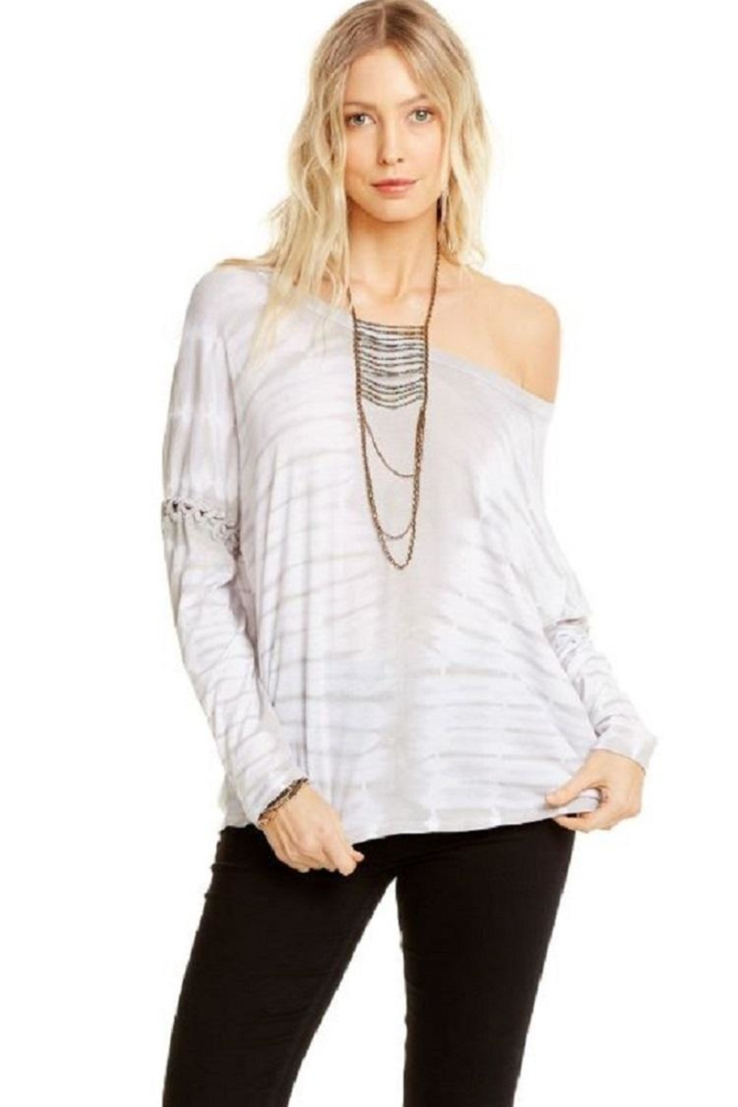 Chaser Lace Up Dolman - Side Cropped Image