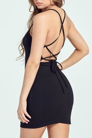 Pretty Little Things Lace Up Dress - Front full body