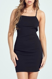 Pretty Little Things Lace Up Dress - Front cropped