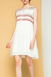 THML Clothing Lace-Up Embroidered Dres - Product Mini Image