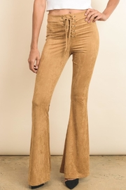 Wanderlux Lace-Up Faux-Suede Bell-Bottoms - Product Mini Image