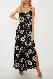Available Lace-Up Floral Maxi - Product Mini Image