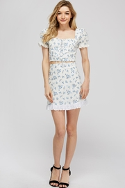 Emory Park Lace-Up Floral Top - Front full body