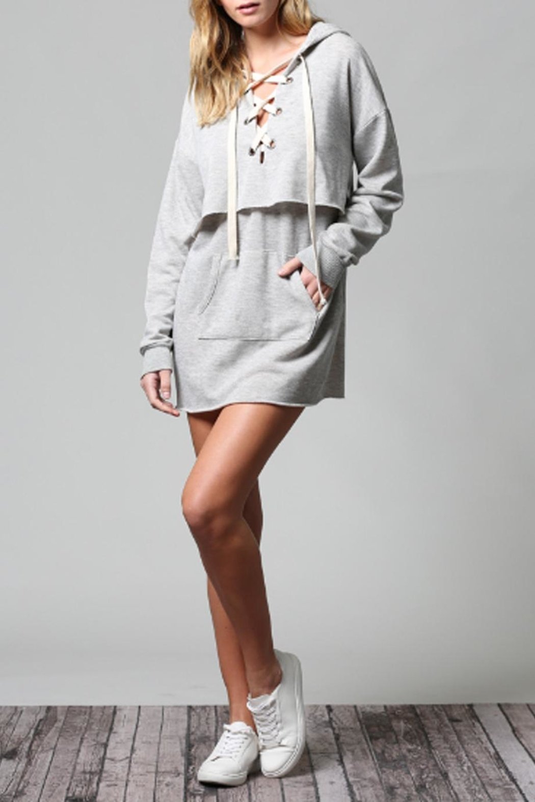 Fate Lace-Up Hoodie Dress from New York City by Suite275 — Shoptiques 890e55957