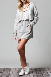 Fate Lace-Up Hoodie Dress - Product Mini Image
