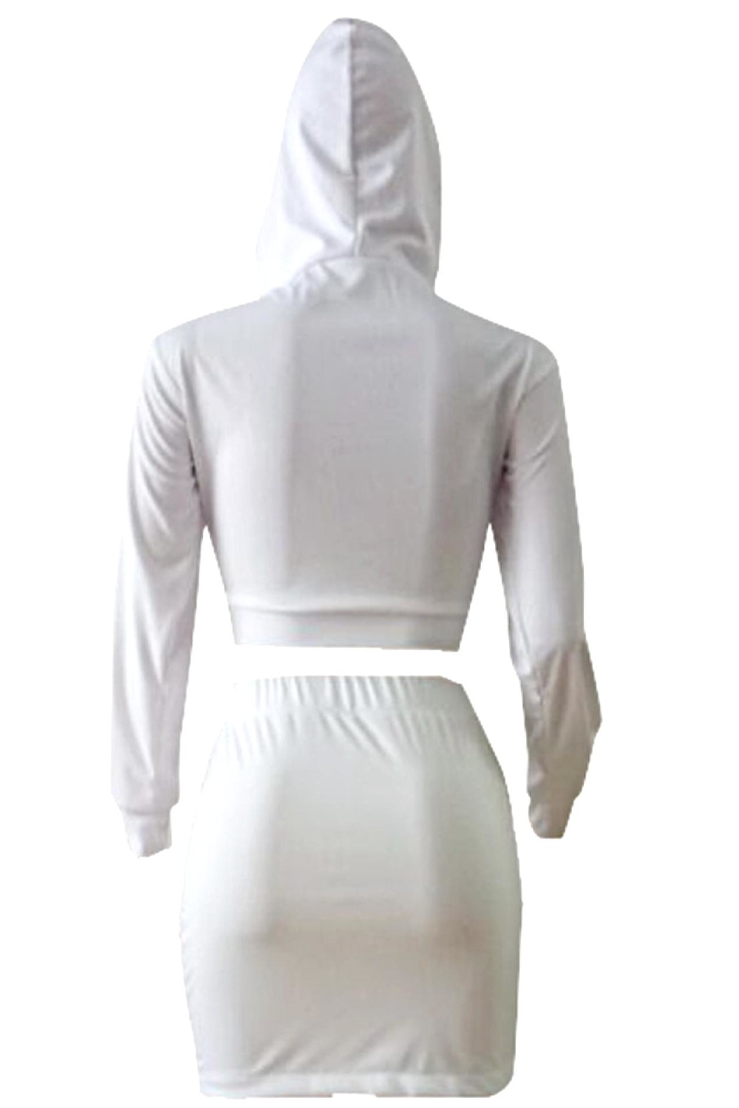 No Label  Lace-Up Hoodie Set - Side Cropped Image