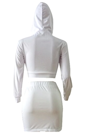 No Label  Lace-Up Hoodie Set - Side cropped