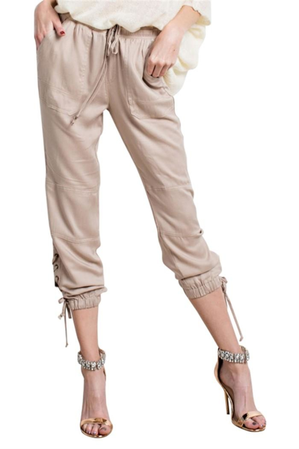 easel Lace Up Joggers - Main Image