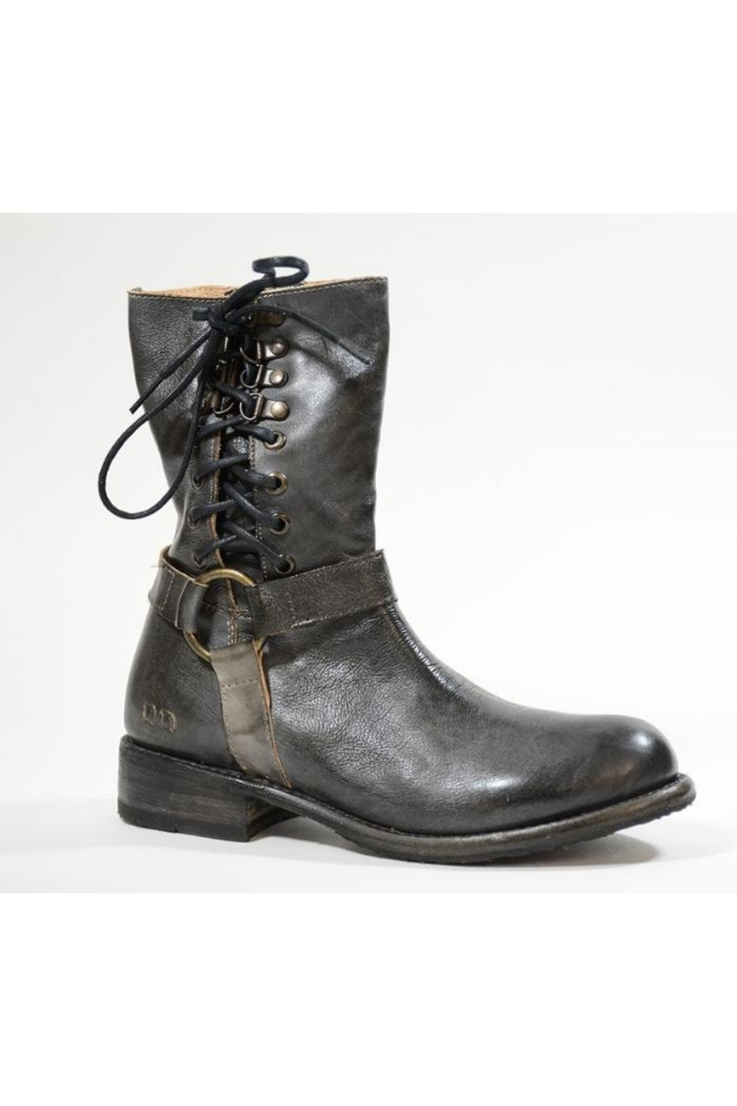 Bedstu Lace-Up-Leather Bootie - Front Full Image