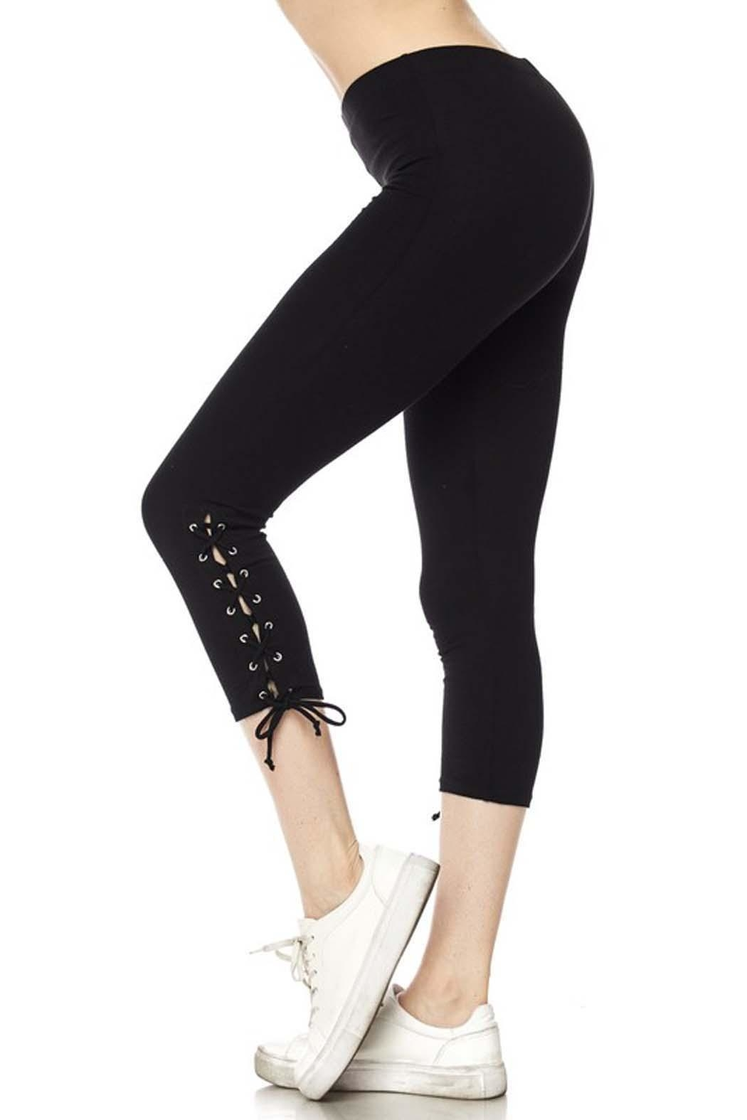 New Mix Lace Up Legging - Main Image
