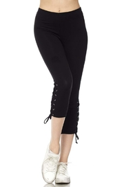 New Mix Lace Up Legging - Front full body