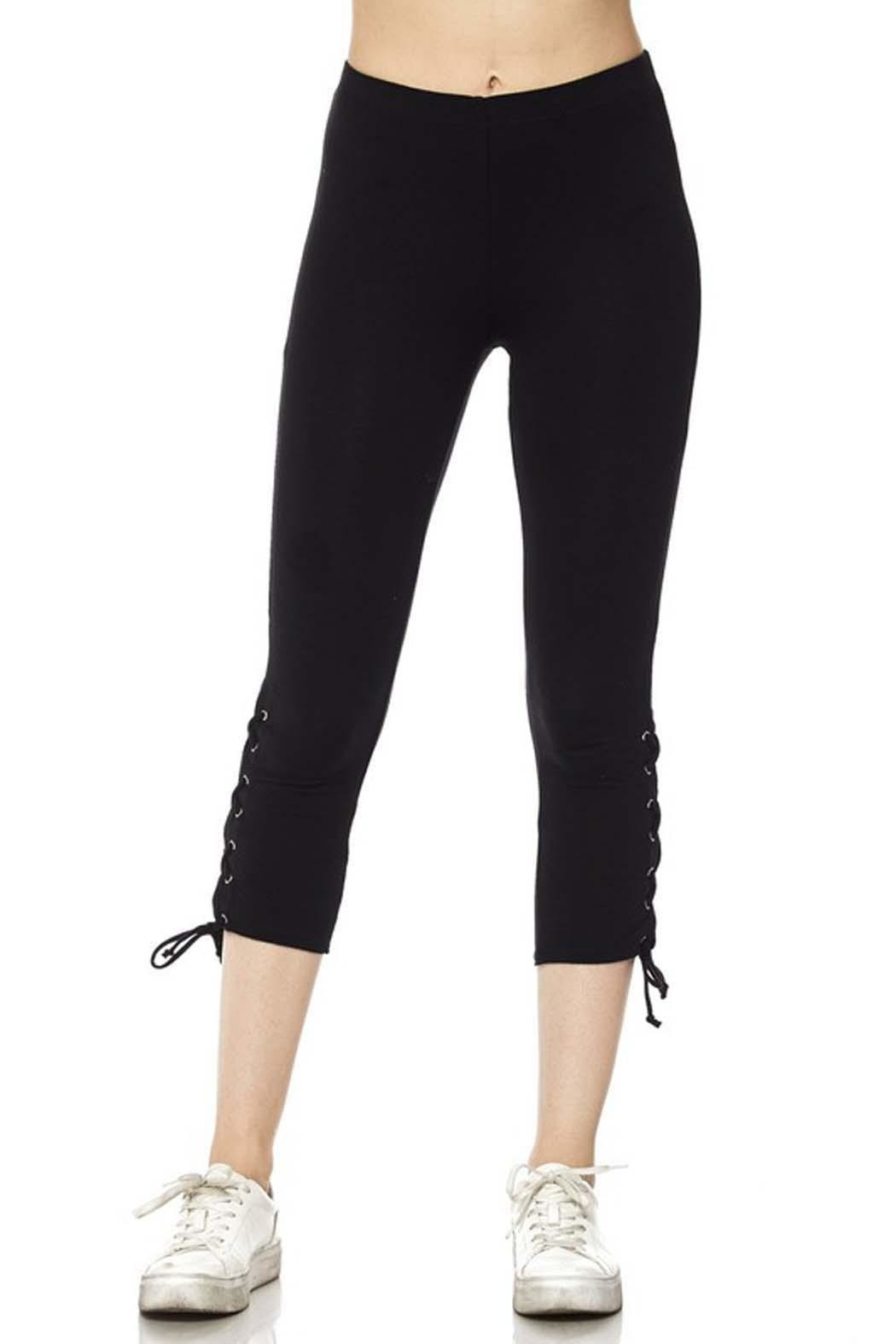 New Mix Lace Up Legging - Side Cropped Image
