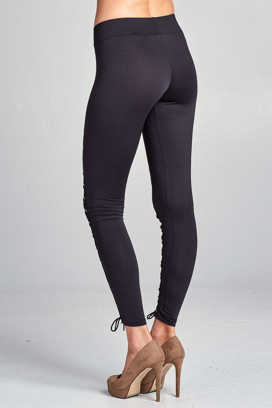 Racine Lace Up Leggings - Side Cropped Image