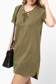 Very J Lace Up Neck Dress - Product Mini Image