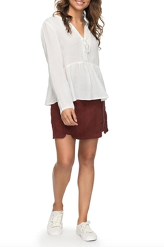 Roxy Lace-Up Peasant Blouse - Product List Image