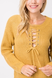 Cozy Casual  Lace-Up Pullover - Front cropped