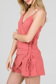 Yipsy Lace Up Romper - Front full body