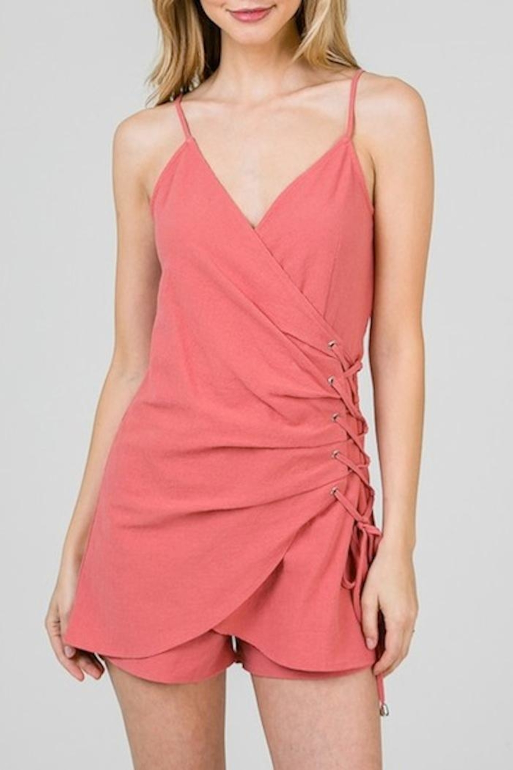 Yipsy Lace Up Romper - Main Image