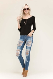 Heart & Hips Lace-Up Scoop Top - Product Mini Image