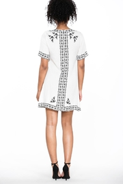 Ark & Co. Lace-Up Shirt Dress - Back cropped