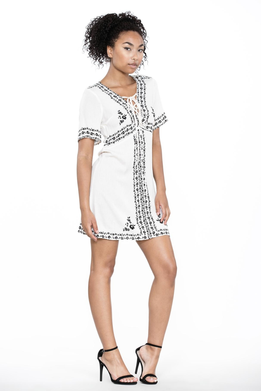 Ark & Co. Lace-Up Shirt Dress - Side Cropped Image