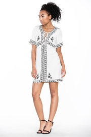Ark & Co. Lace-Up Shirt Dress - Other