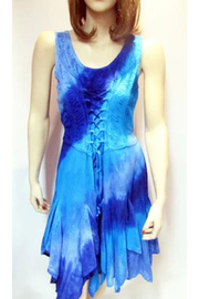 KIMBALS Lace-up Short Tie-Dye Dress - Product Mini Image