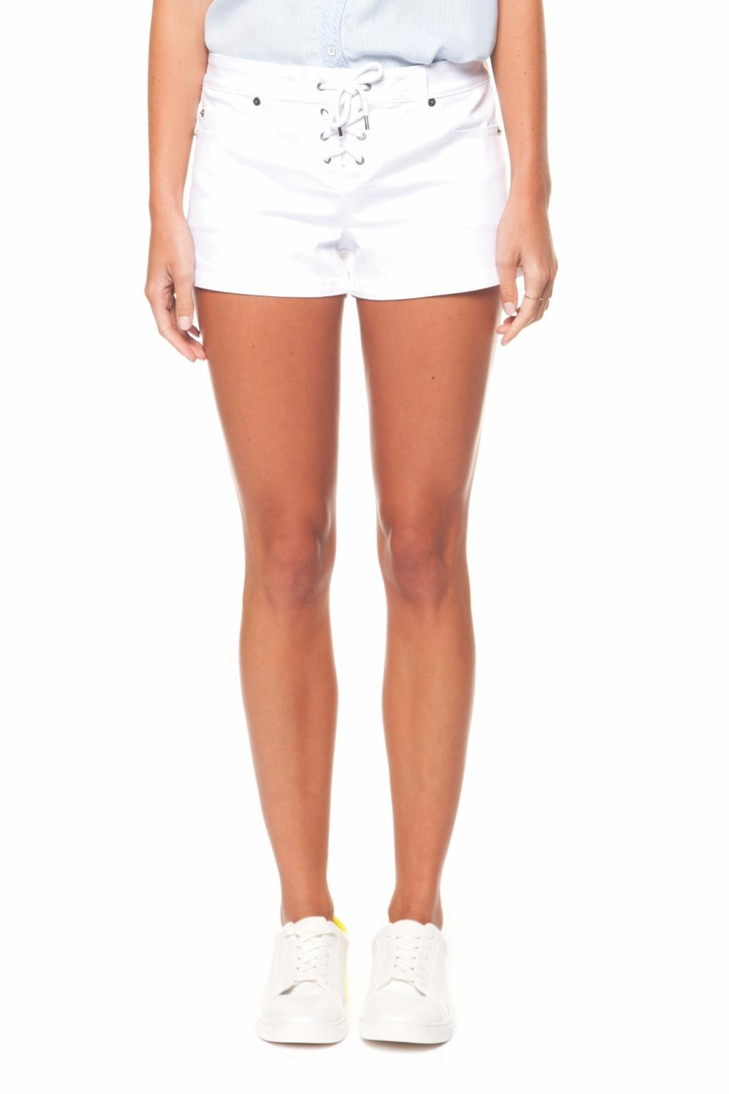 Dex Lace-Up Shorts - Front Cropped Image