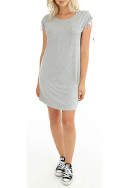 Bobi Lace up Shoulder Tunic Dress - Product Mini Image