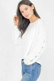 Six Fifty Lace Up Sleeve Boxy Top - Product Mini Image