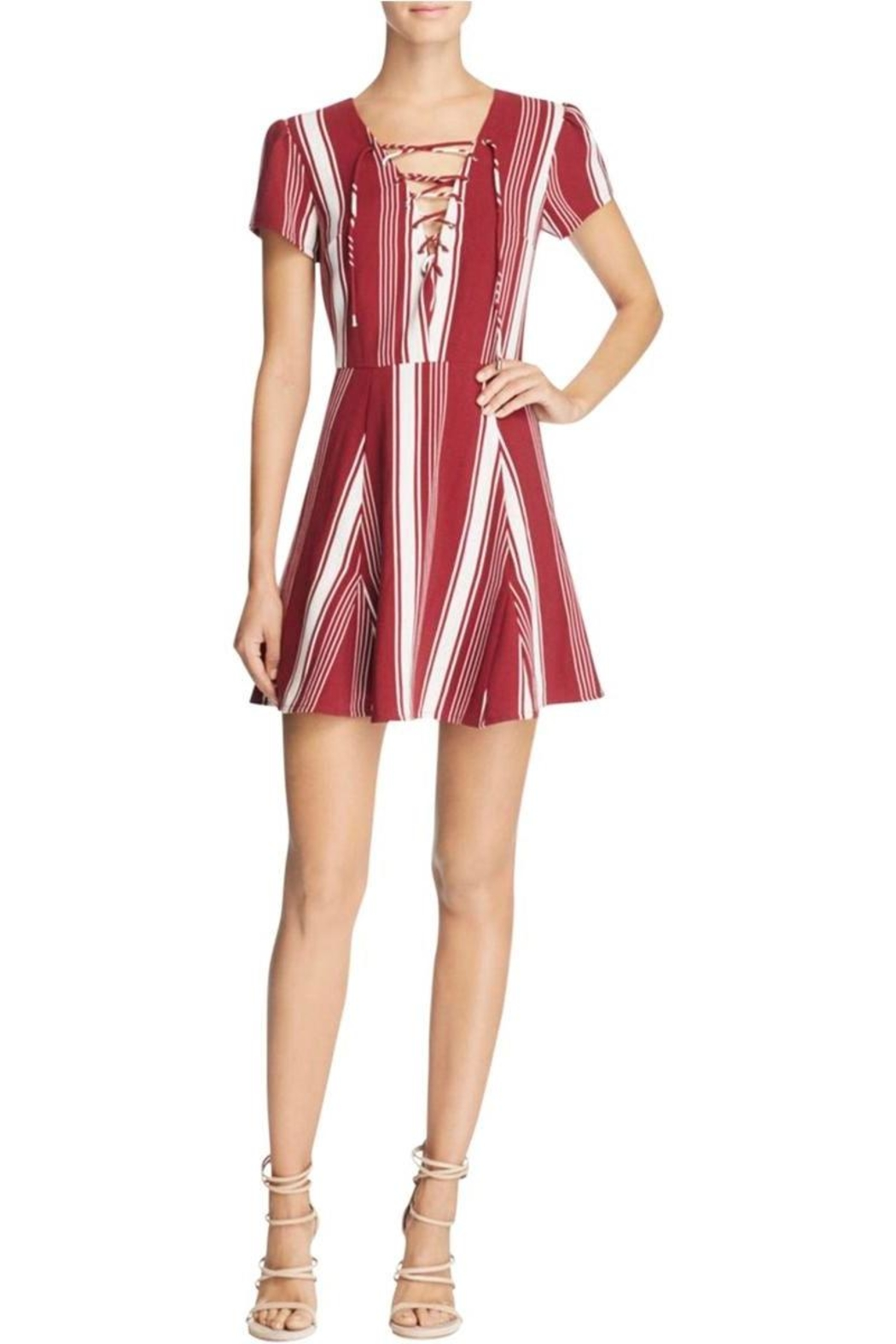 Lovers + Friends Lace-Up Striped Dress - Main Image
