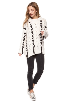 Shoptiques Product: Lace-Up Sweater
