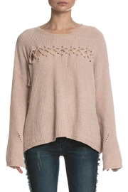 Elan Lace Up Sweater - Front cropped